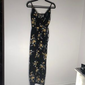 Black and Yellow Floral Dress.
